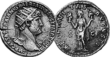 Coin Value: Ancient Rome Hadrian and Aeternitas Dupondius (WRL