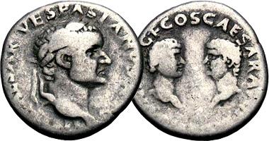 Coin Value: Ancient Rome Vespasian Denarius with Titus and Domitian