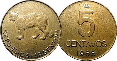Argentina 5 Centavos 1985 To 1988