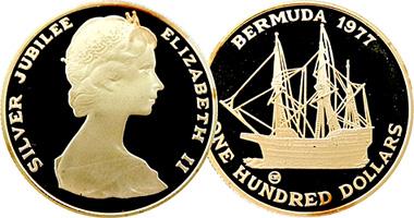 Coin Value: Bermuda 100 Dollars 1977