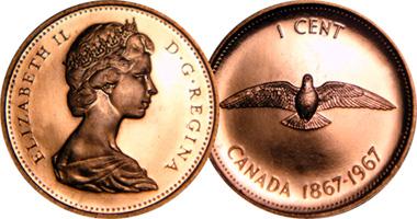 Coin Value: Canada 1 Cent Commemorative 1967