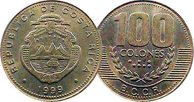 Costa Rica 5 10 25 50 100 And 500 Colones 1995