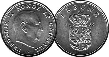 Denmark Krone And 2 5 Kroner 1947 To 1988