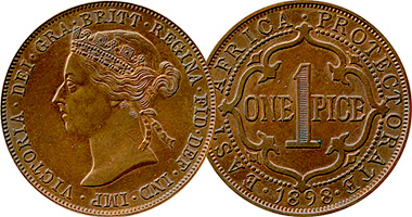 East Africa Protectorate Kenya British 1 Pice 1897 To 1899