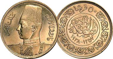 Egypt 20 50 100 And 500 Piastres 1938