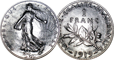 France 50 Centimes 1 2 And 5 Francs 1898
