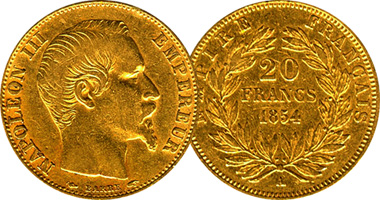 France 5 10 And 20 Francs 1852 To 1869