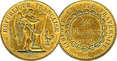 France 20 50 And 100 Francs 1871 To 1914