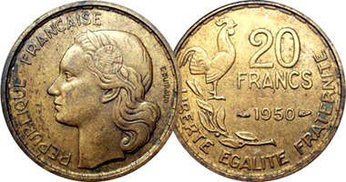 France 20 And 50 Francs 1950 To 1958