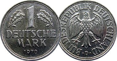 Germany 1 Mark 1950 To 2002