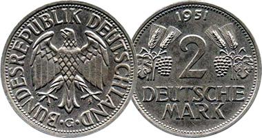 Germany 2 Mark 1951