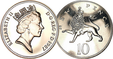 Great Britain 10 Pence 1968 To Date