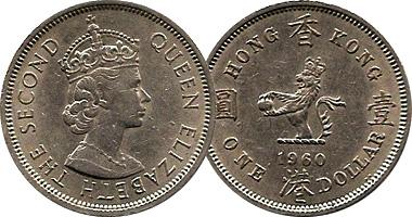 Hong Kong 1 2 And 5 Dollars 1960 To 1992