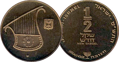 Israel 1 2 New Sheqel 1985 To 2017