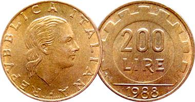 Italy 200 Lire 1977 To 2002