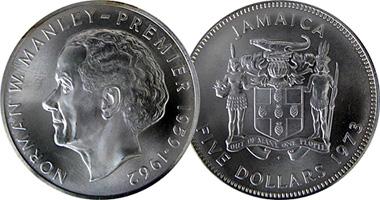 Jamaica 5 Dollars 1971 To 1994