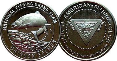 Florida Largemouth Bass North American Fishing Club Grand Slam Silver Plate Coin
