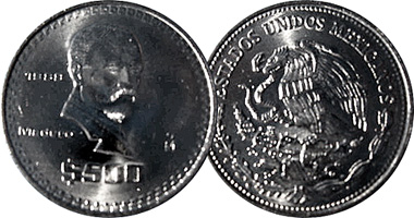 Mexico Modern Coins With Difficult Date 1890 To 1999