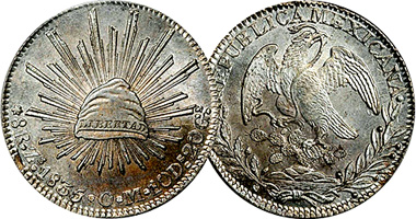 Mexico 8 Reales Fakes Are Possible 1823 To 1897