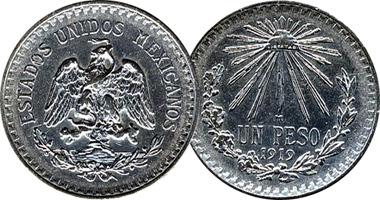 Mexico Un Peso 1918 To 1945