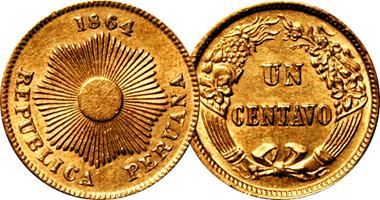 Peru 1 And 2 Centavos 1863 To 1949