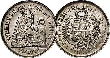 Coin Value Peru Real Centavo Dinero