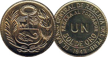 Peru 1 Sol 1943 To 1965