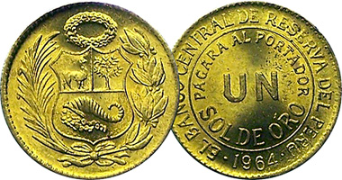 Coin Value Peru 1 2 And Sol 1935 To 1965