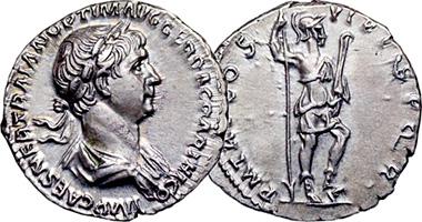 Ancient Rome Trajan Silver Denarius 98ad To 117ad