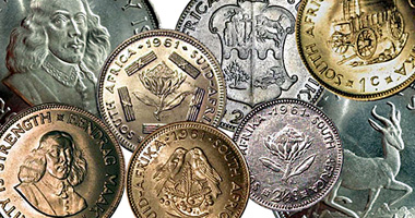 Coin Value: South Africa 1/2, 1, 2 1/2, 5, 10, 20, and 50 Cents (Van