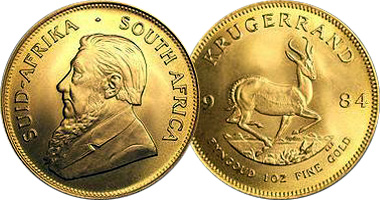 South Africa Krugerrand 1980 To Date
