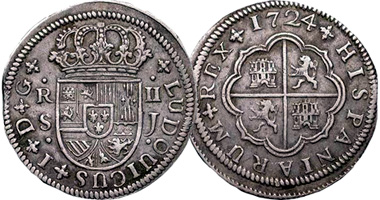 foto de Coin Value: Spain 1/2, 1, 2, 4, and 8 Reales 1700 to 1771