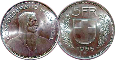 Coin Value Switzerland 5 Franc 1922 To