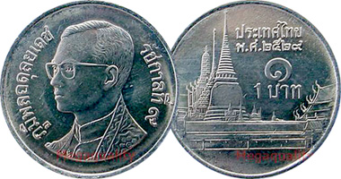 Coin Value Thailand 1 Baht 1986 To Date