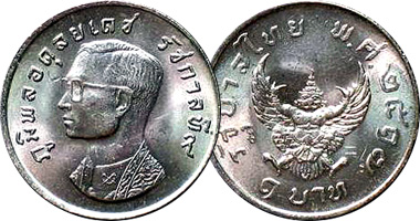 Thailand Coins With Garuda 1970 To Date