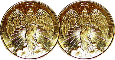 Coin Value: US Catholic Relief Guardian Angel Good Luck