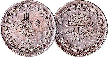 Turkey 5 10 And 20 Kurush 1845 To 1918