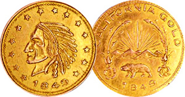 1849 One Dollar Gold Coin Value Best Photos About Dollar