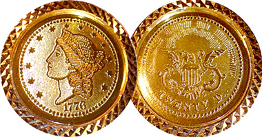 Us Gold Coin Jewelry Replica Counterfeit 1776