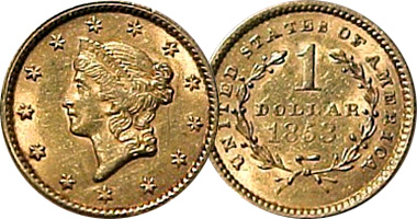 Us One Dollar Gold Liberty Head Fakes Are Possible 1849 To 1854