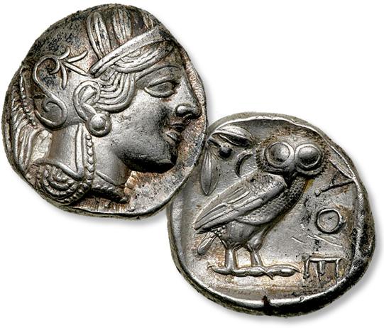 Coin Value: Ancient Greece Athens Tetradrachm (Fakes are