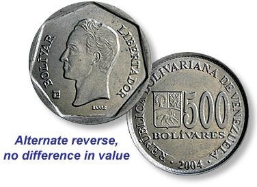 Coin Value Venezuela 10 20 50 100
