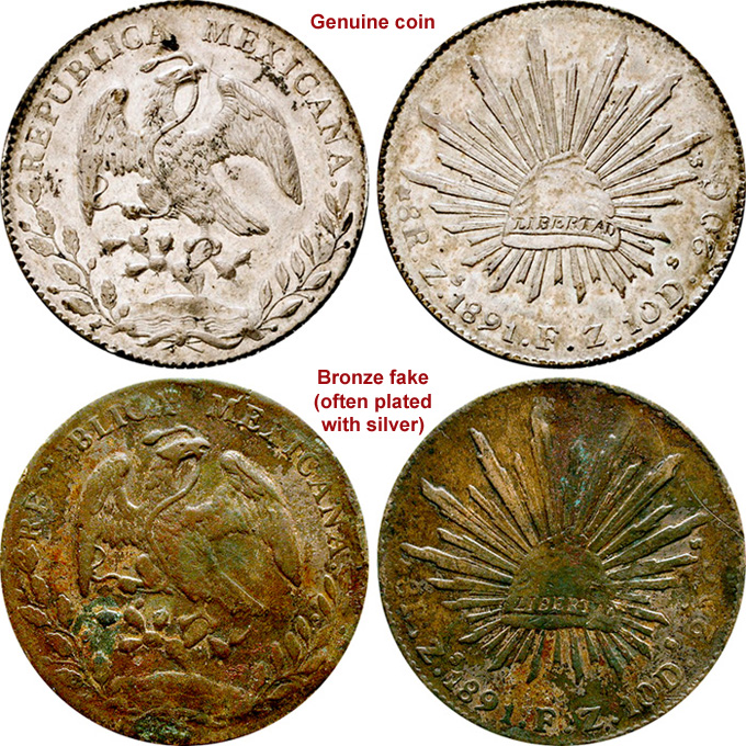 Coin Value: Mexico 8 Reales (Fakes are possible) 1823 to 1897
