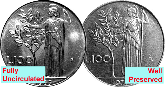 Coin Value: Italy 100 Lire 1955 to 1989