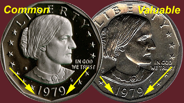 Coin Value: US Susan B Anthony Dollar 1979 to 1999