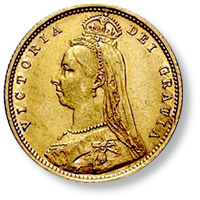 Coin Value: Great Britain Half Sovereign 1838 to 1893